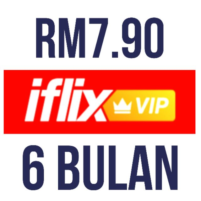 iflix VIP Personal account 6 BULAN = RM7 90