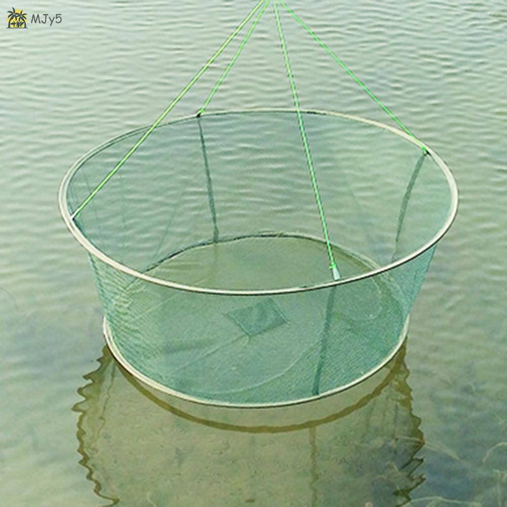 Foldable Drop Net Fishing Landing Net Prawn Bait Crab Shrimp 80cm