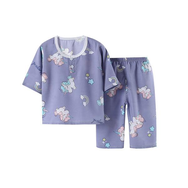 [ขายส่ง]ชุดนอนเด็กผ้าฝ้าย HY ของชุด 73-140 ซม. (อายุ 0.5-8 ปี)