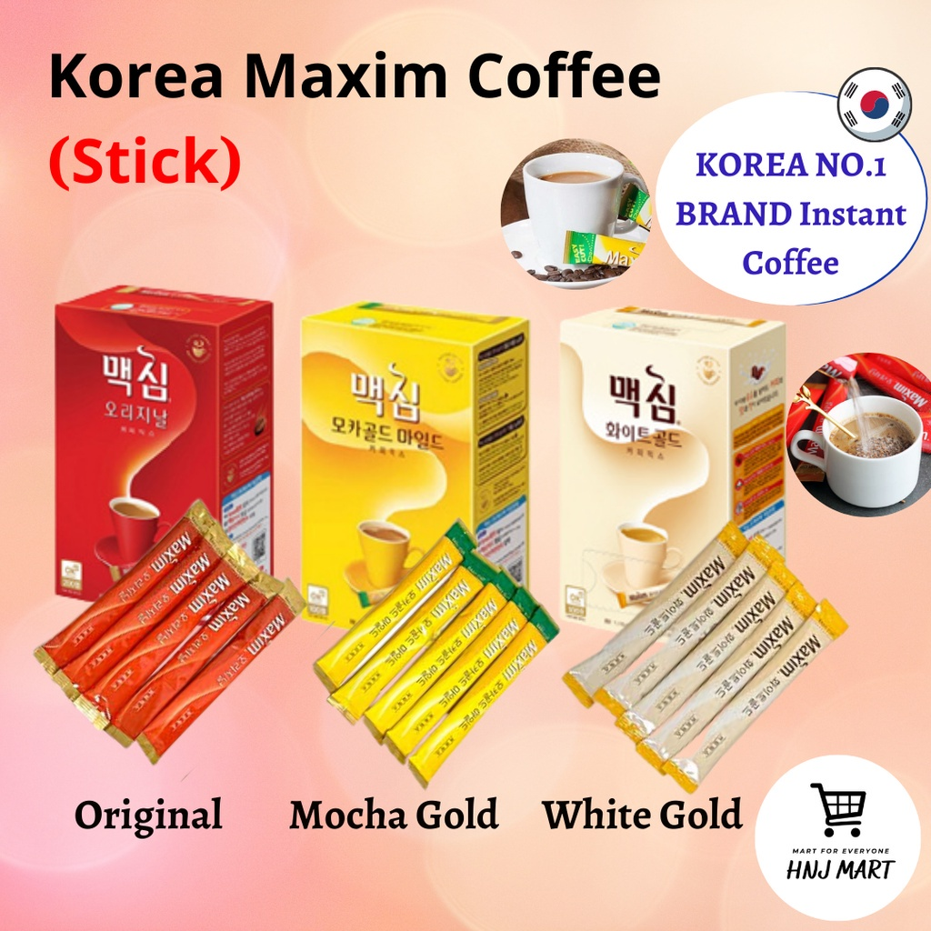 Korea Maxim Coffee Original/Mocha Gold/White Gold 韩国速溶咖啡 Maxim Instant Coffee Korea Instant Coffee