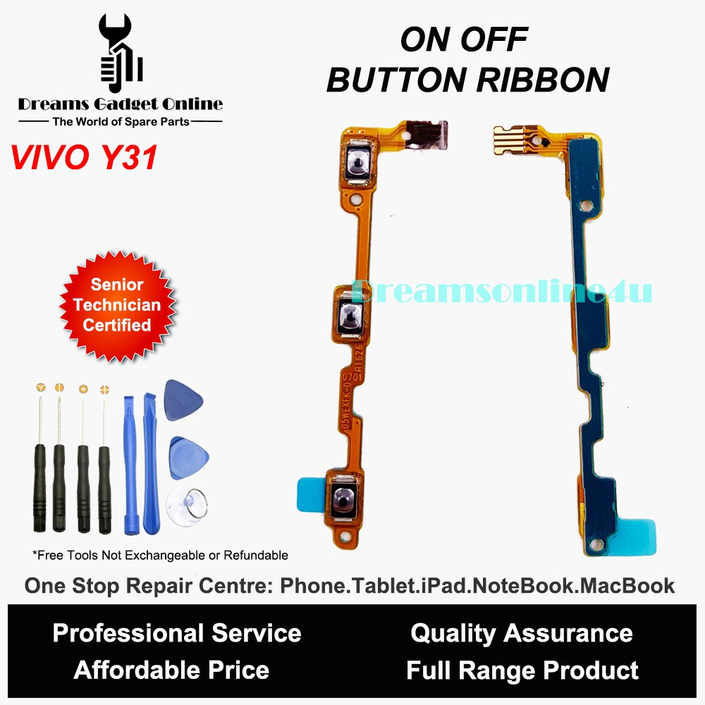 Replacement Power On Off Button Ribbon for Vivo Y31