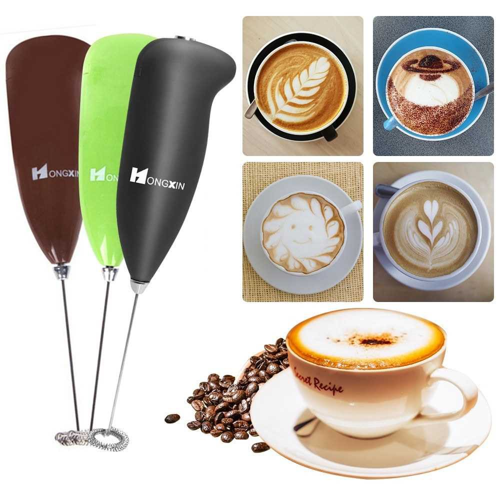 Electric Milk Frother Automatic Milk Foam Maker for Bulletproof Coffee Matcha Stainless Steel Whisk Battery Operated Mi