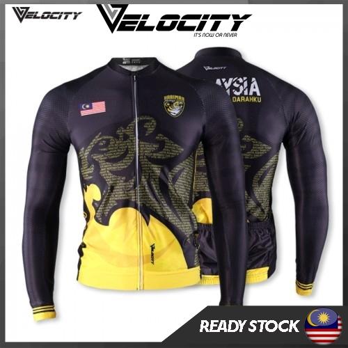 Velocity Malaysia Long Cycling Jersey Negaraku