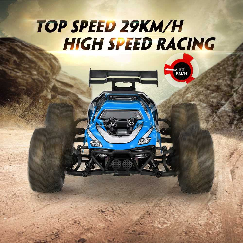 Great Discount HBX 1/18 18858 2.4GHz 4WD High Speed Electric Car Off-road RC Buggy Racing Truggy Monster Truck RTR (Blu