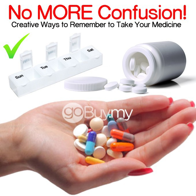 7 Day Pill Boxes, Pill Reminder, Organizer