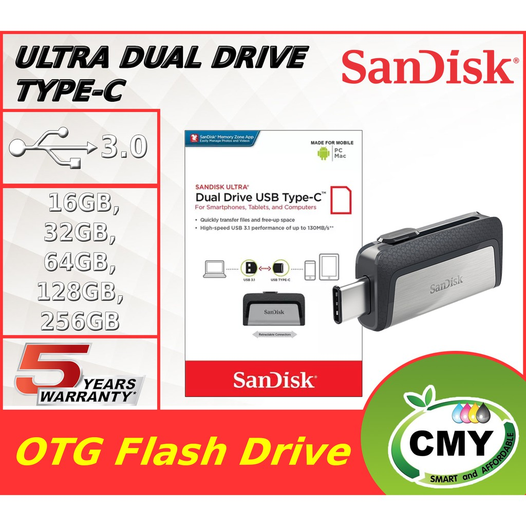 Sandisk Ultra Dual Drive Type-C OTG USB 3.1 Type C 128GB 256GB Pendrive