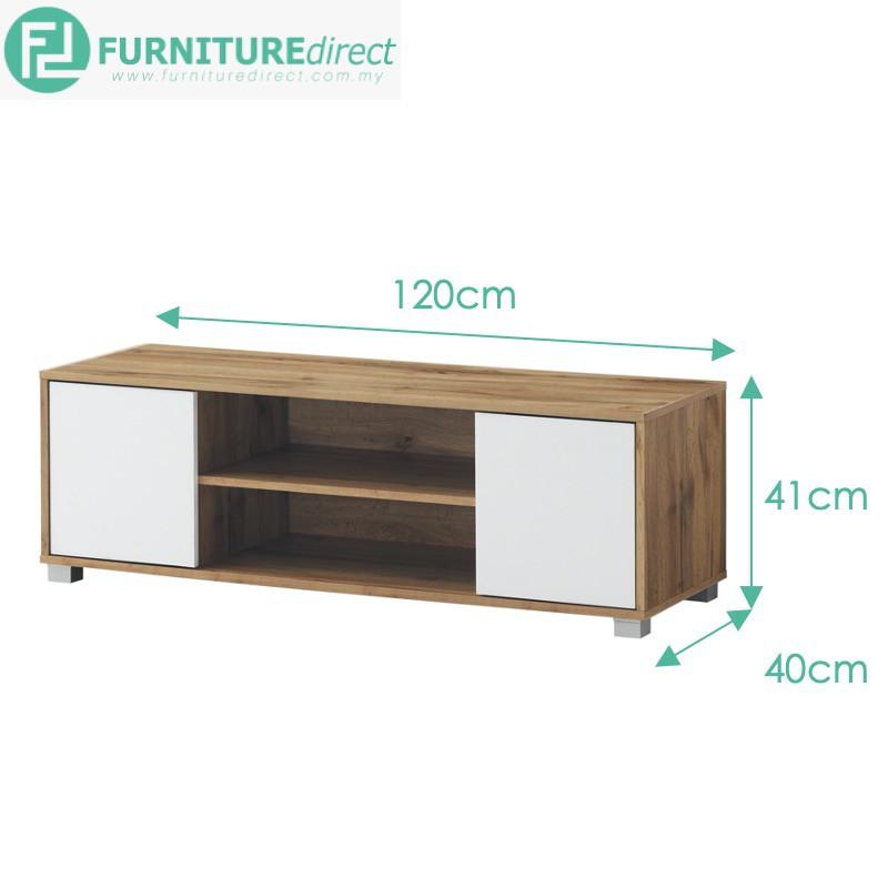 Furniture Direct STONOR 6 feet 1 Door TV cabinet/ rak tv 6 kaki/ kabinet tv