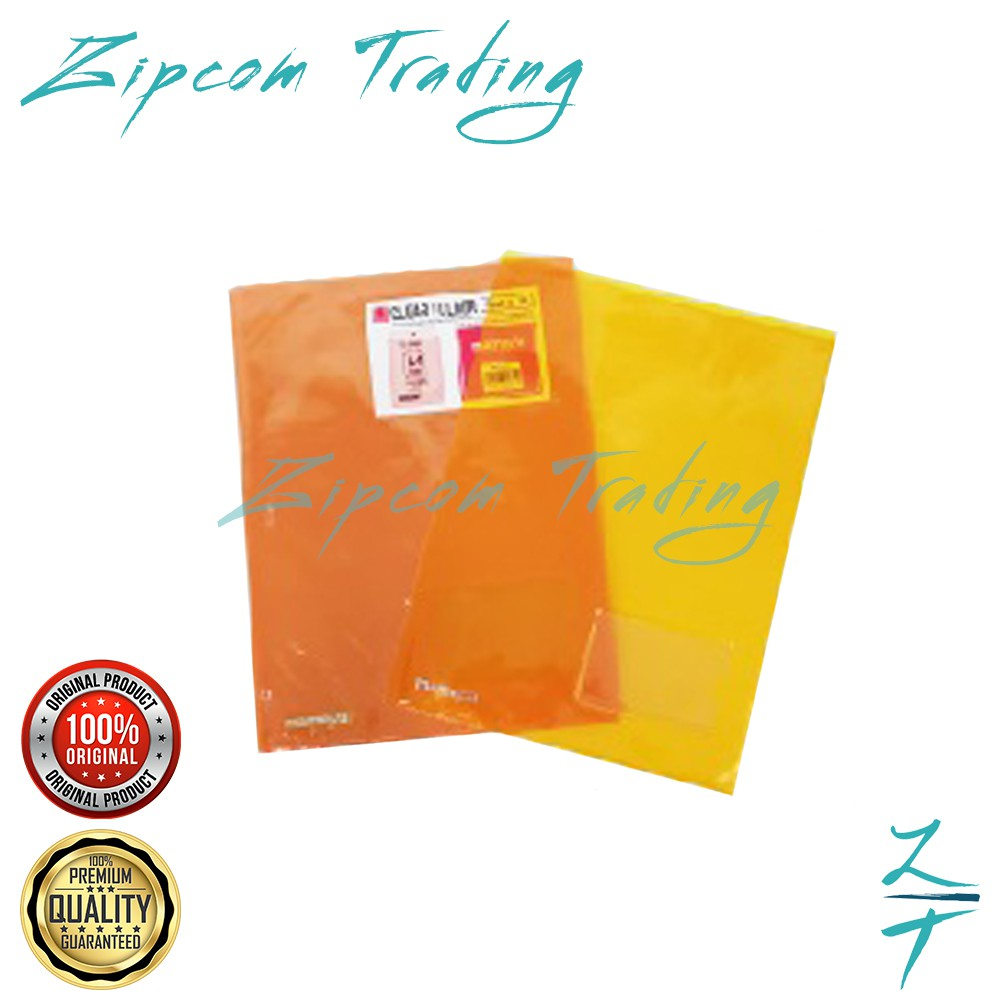 Mamega Colour PVC Clear Folder A4 Size / Non Toxic & Flexible (10pcs/1pack)