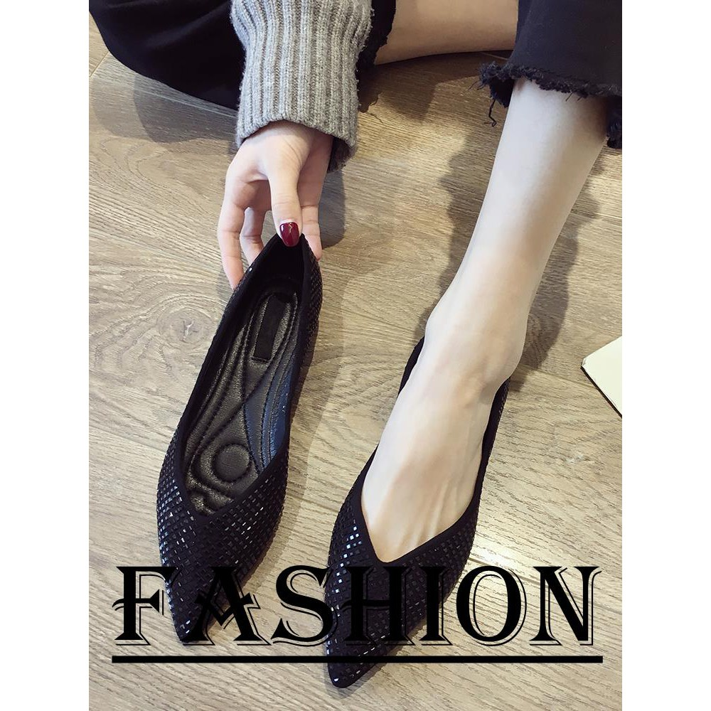 b59a790afa ProductImage. ProductImage. Pointed single shoes female summer wild sequins shallow  mouth flat ...
