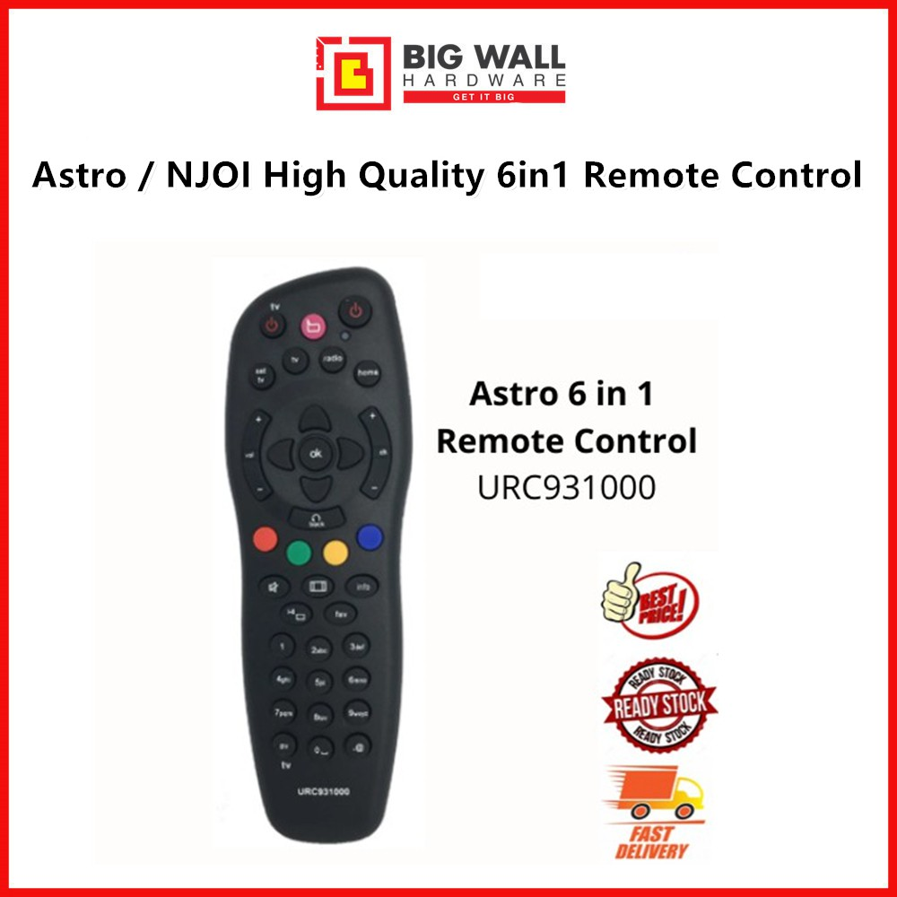 Astro / NJOI High Quality 6in1 Remote Control Big Wall Hardware