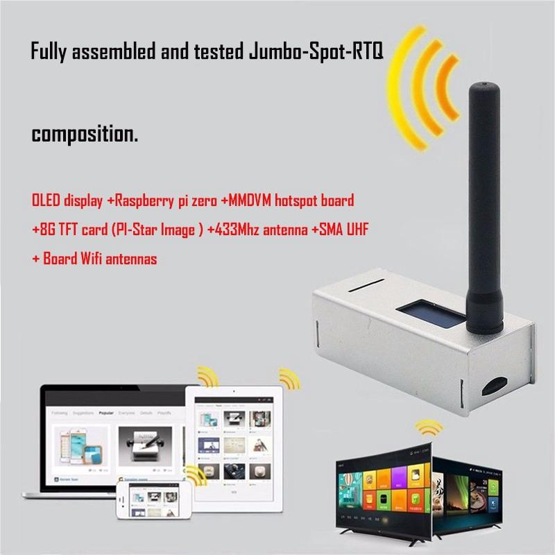 US MMDVM Hotspot P25 DMR YSF+Raspberry Pi Zero+OLED+Antenna+Case+8G