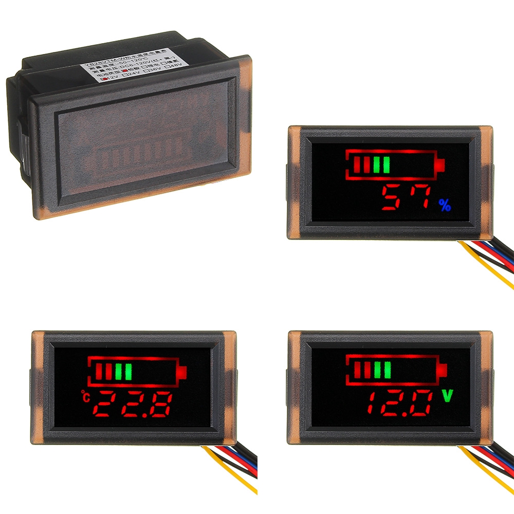Car Battery Voltage Display 12V Turn 5V Buck Module Dual USB Car Power  Supply