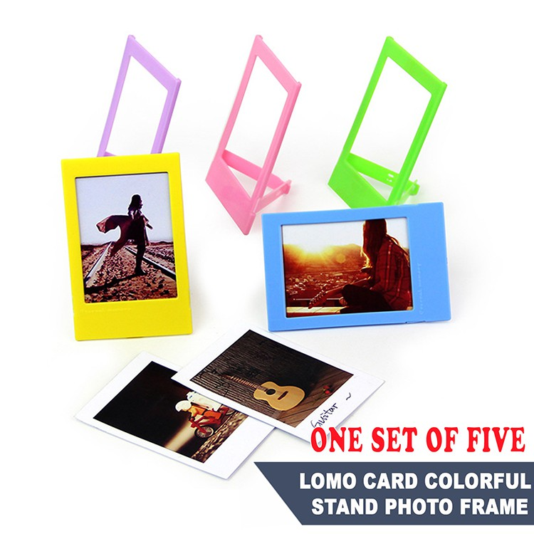 Lomo Card Colorful Stand Photo Frame.(One Set Of Five) | Instax mini | Card Sleeves| Lomo Card5.4*8.9cm(2.4*3.5inch)