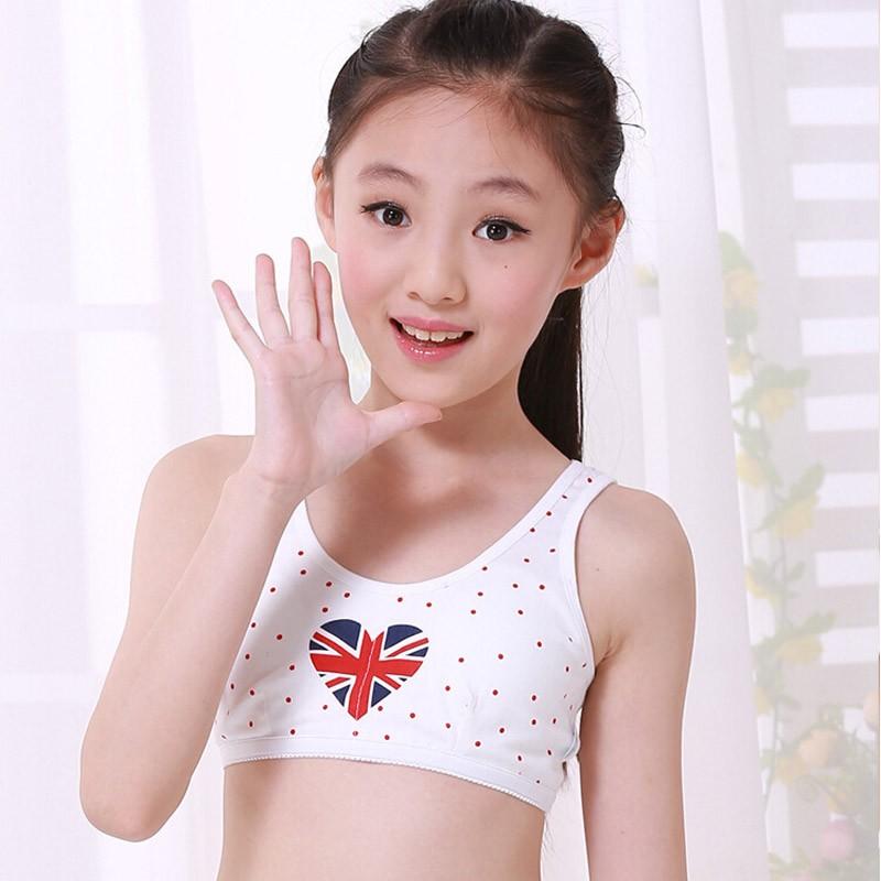 9aee353423 B8407 Tsfit-Land Children Underwear 100% Cotton Hasp Wireless Young Girl Bra