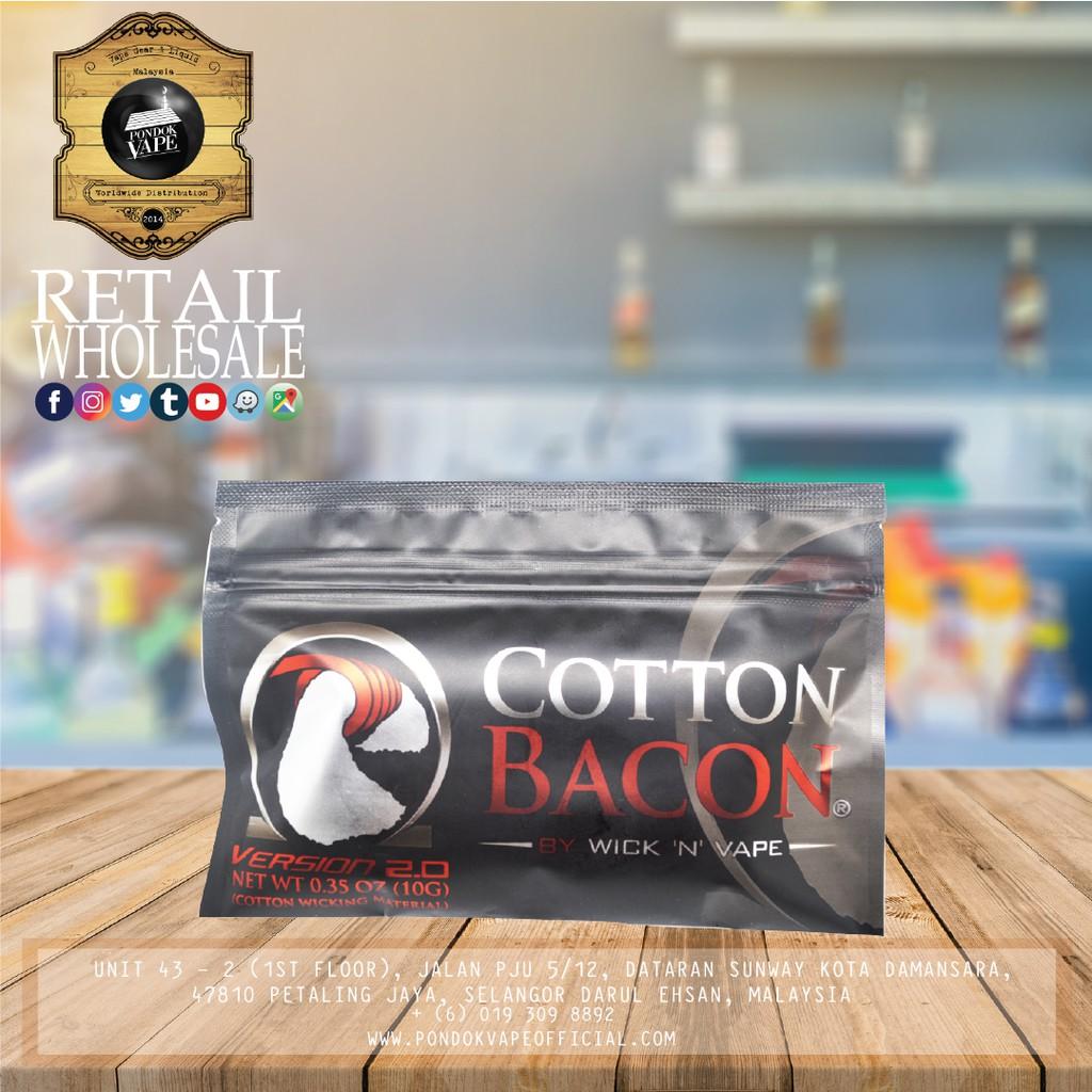 Original Atomix Atomic Cotton Kapas Vape Recoil Accessories Flava Not Or Bacon Ecigarettes Shopee Malaysia
