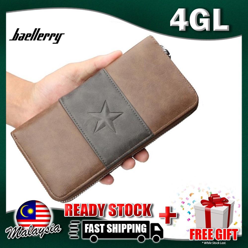 4GL Baellerry 9030 Men Wallet Long Zipper Purse Wristlet Dompet ... e5f76046f6
