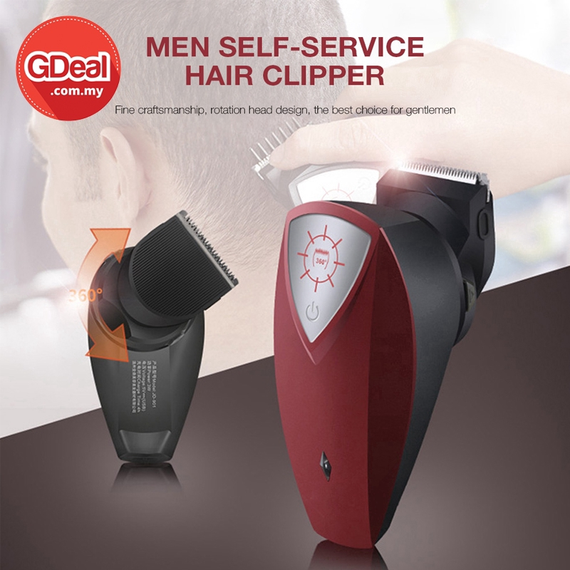 GDeal Rechargeable 360° Rotating Electric Hair Clipper USB Men Hair Clipper Portable Hair Trimmer Kit