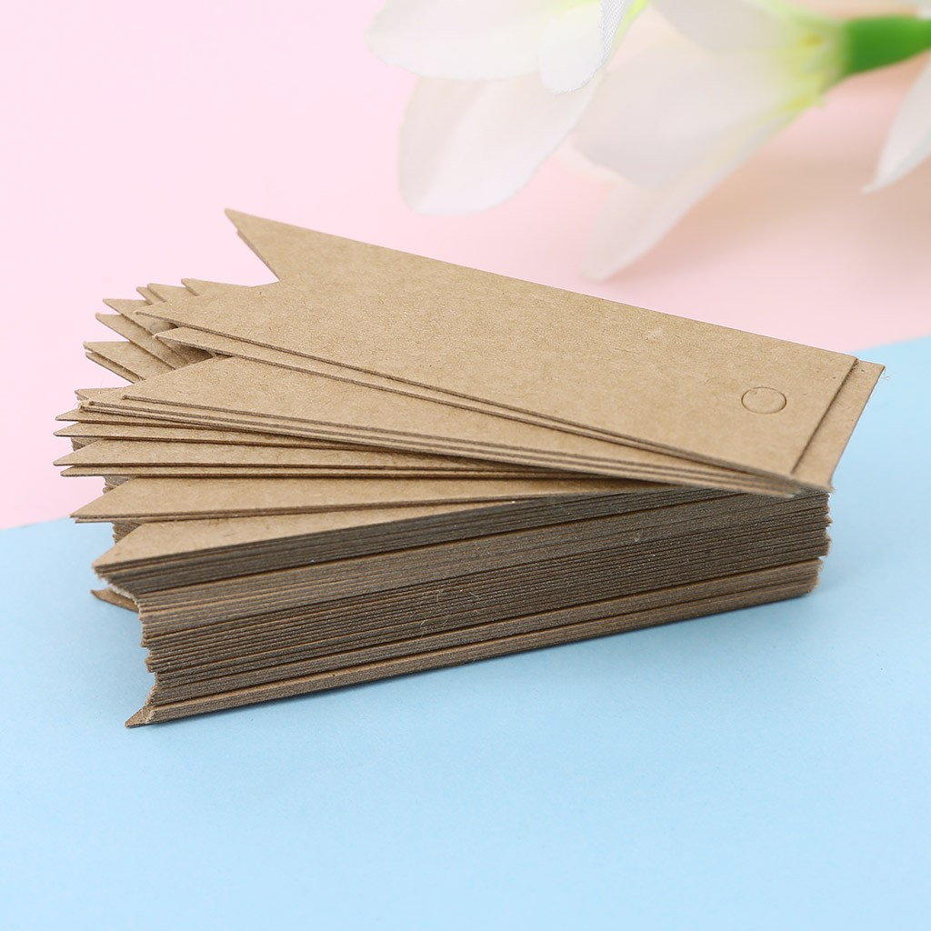 50x Vintage Thank You Kraft Paper Hang Tags Wedding Favor Label Gift Cards