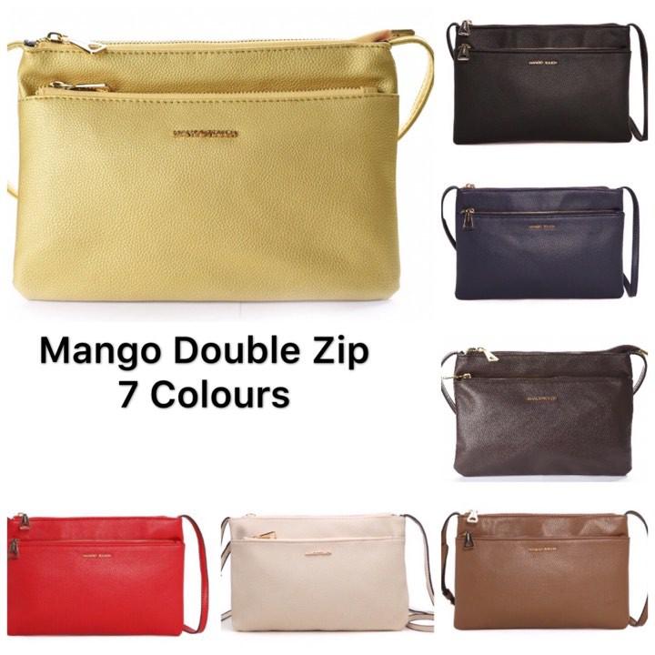f693a586b4 😍 Hot Item 😍MNG Mango double zip sling bag