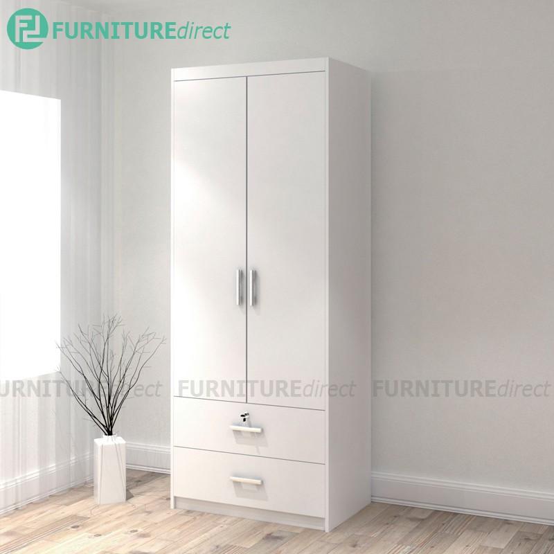 2 Door 2 Drawer Wardrobe/ almari baju/ almari pakaian/ almari