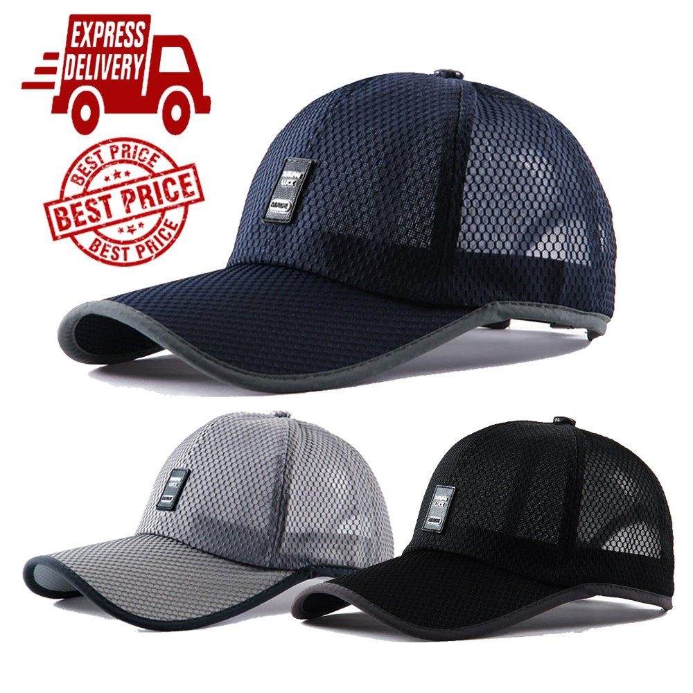 [Newly Arrive] Breathable Mesh Premium Outdoor Sports Cap