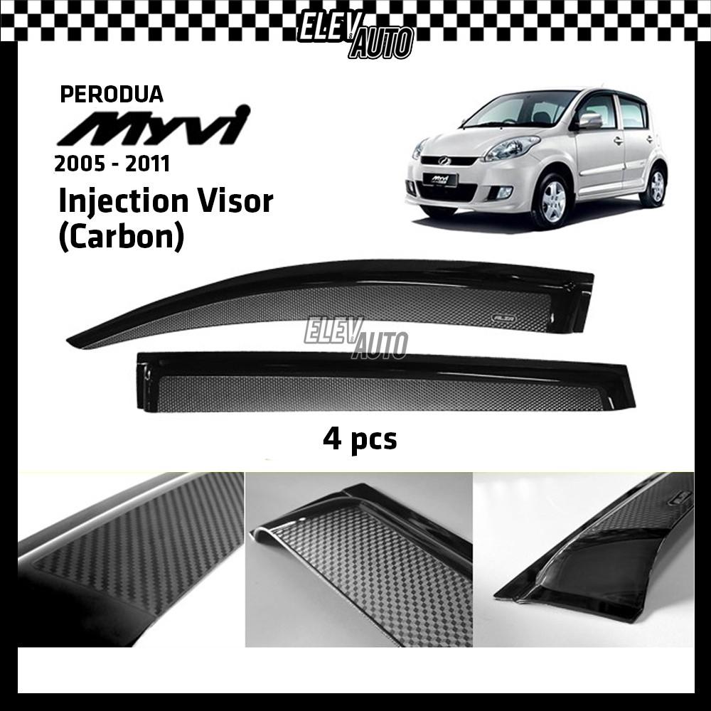 Perodua Myvi 2005-2011 CARBON Injection Door Visor