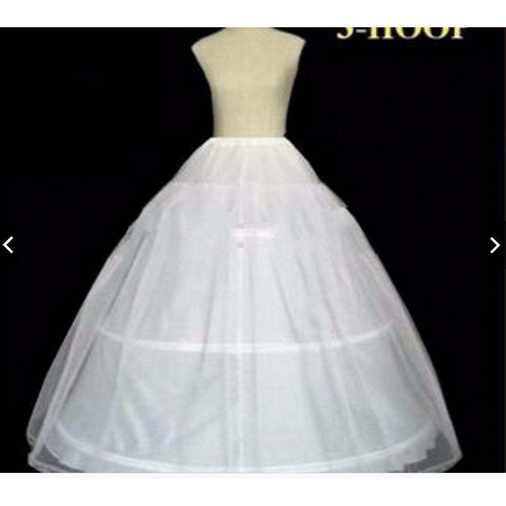 5fe37b6185 White 3 hoop 1 Layer petticoat Crinoline Underskirt bridal wedding dress  Gown