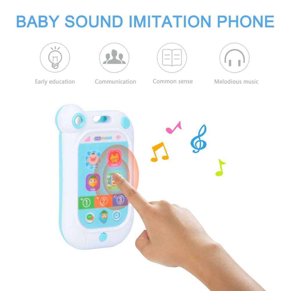 Great Discount Baby Sound Imitation Phone with Lights Music Funny sounds Baby Stop Crying Gift Toy for Babies (Standard