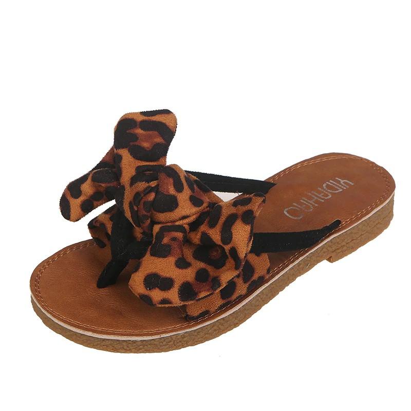 0abd0d013eed8 erbhrym Women Flip Flops Fashion Solid Color Bow tie Flat Heel Sandals Size  36-4