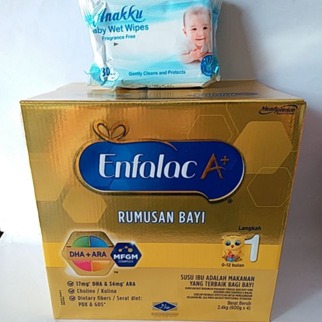 Enfalac A+ step 1 2.4kg FOC WET TISSUE Exp 01/2021