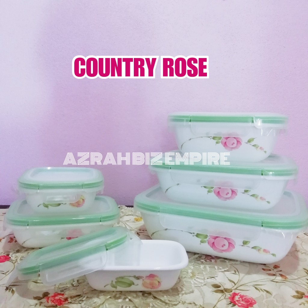 Hot 12pcs Corelle Snapware Original Air Tight Stackable Food Storage Lunch Box Shopee Malaysia