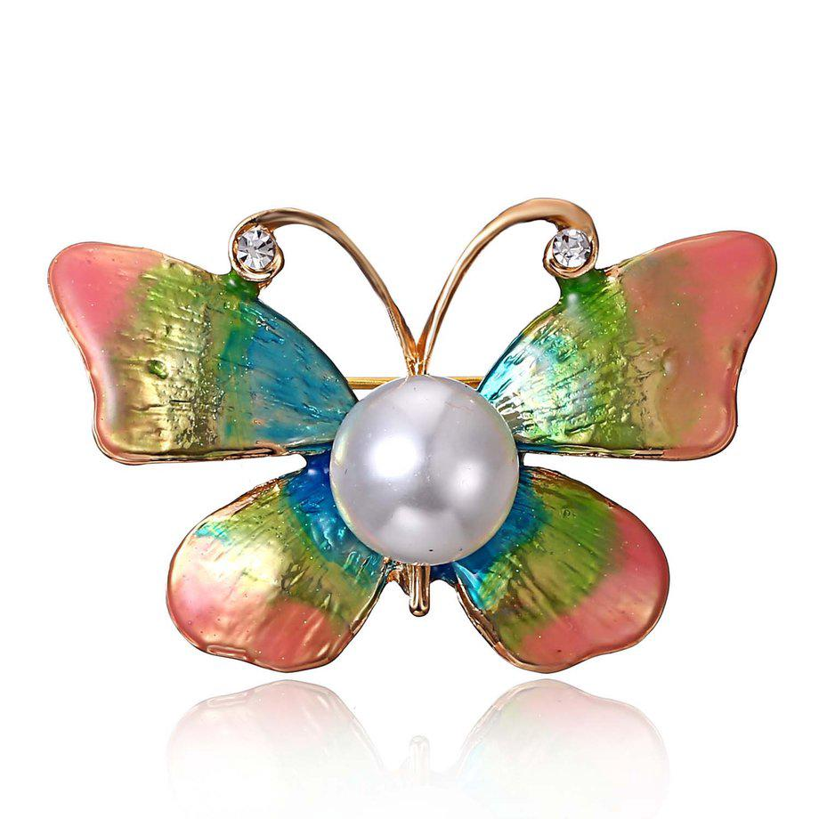 99442b8415d *Elegant Butterfly Clothes Clip Women Brooch Pin Imitation Pearl Brooch |  Shopee Malaysia