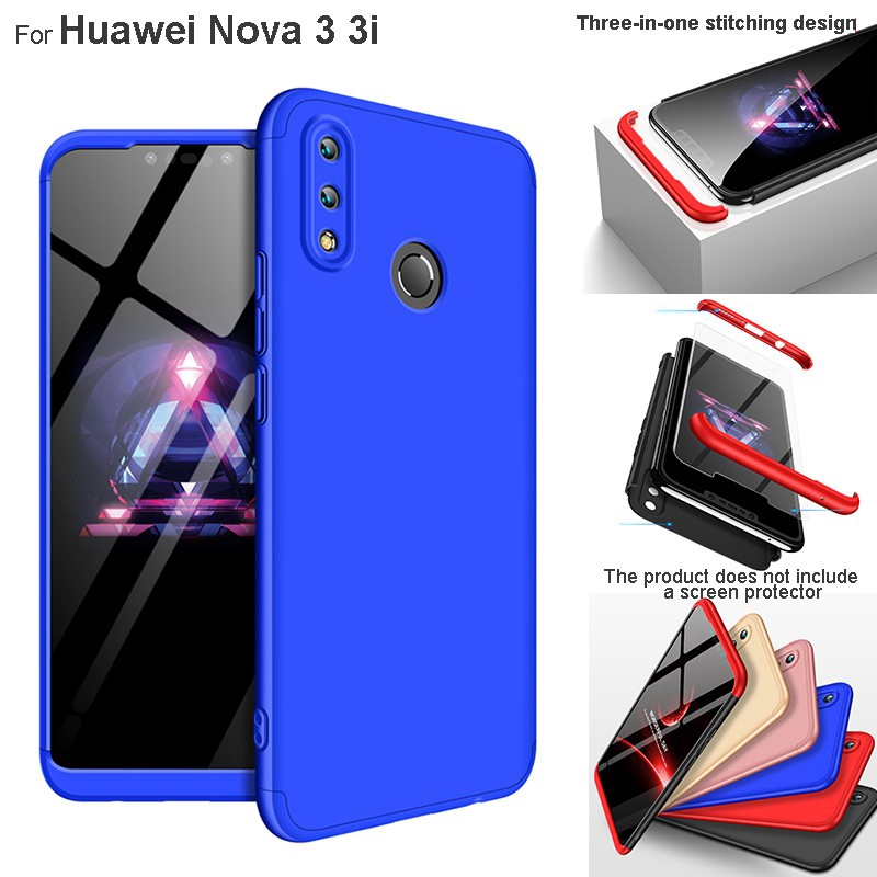 Huawei Nova 3i Nova 3 360 Degree Matte Full Body Protective Hard PC Case  Cover