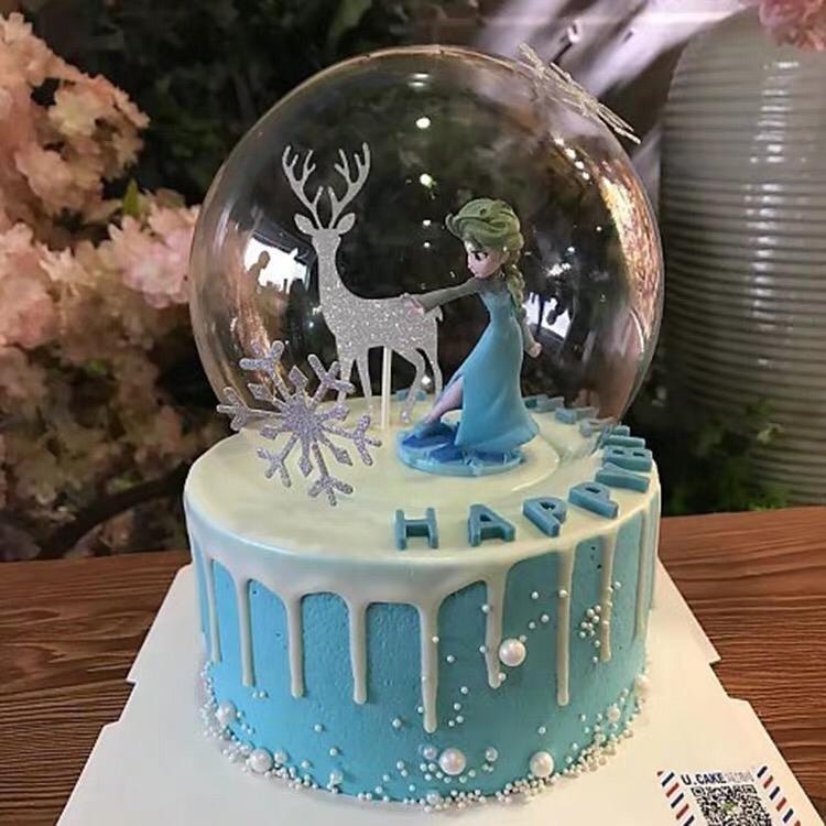 Marvelous Ready Stock Elsa Frozen Cake Topper Cake Decoration Princess Funny Birthday Cards Online Fluifree Goldxyz