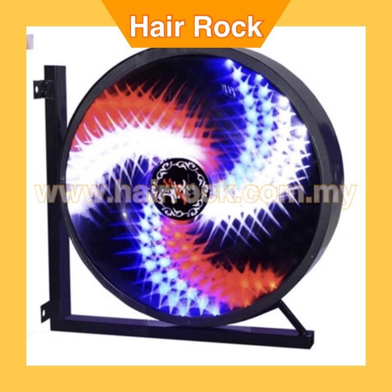 Barber Pole Rotating LED Strips Light Metal Hair Salon with 2 Light Ball