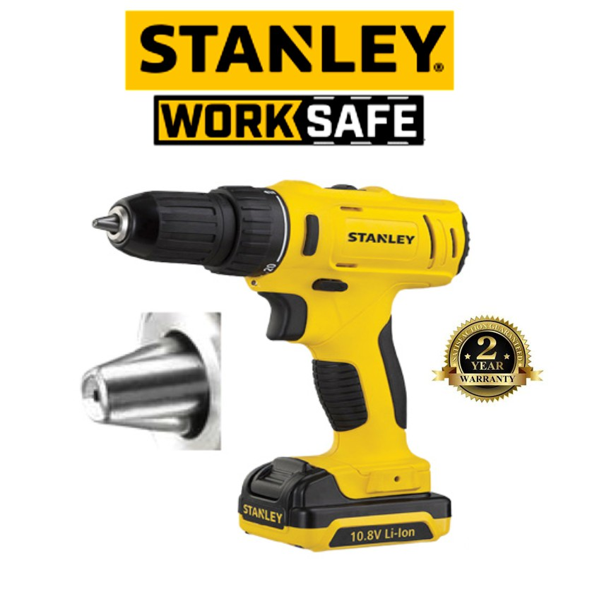 STANLEY SCD12S2 10.8V LITHIUM-ION DRILL + CHARGER + 2 BATTERIES ( 2 YEAR WARRANTY)