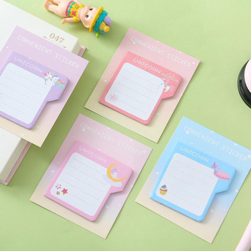 8a72a3a54aaf Creative Unicorn Post-it Notes Student Memo Stickers Index Label