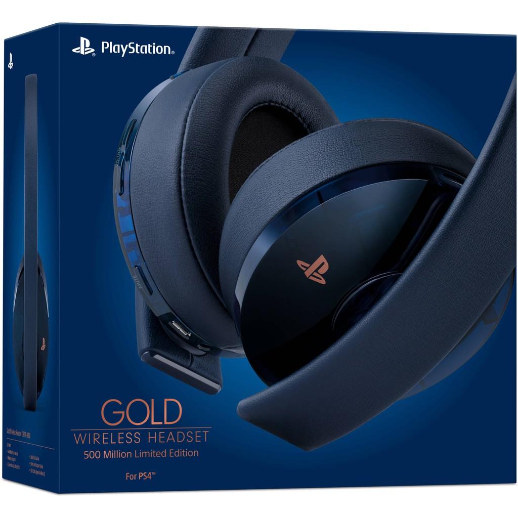 Ps4 Sony New Gold Wireless Headset 500 Million Edition Shopee Malaysia