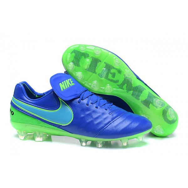 huge discount 4093f 1dad7 Nike Tiempo Legend 6 FG ACC Soccer Cleats Blue Green