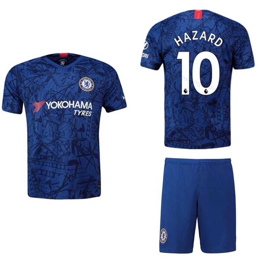 size 40 c97d5 0312a 2019/2020 Boy Chelsea Jersey HAZARD Home Football kids Kit Football Jersi