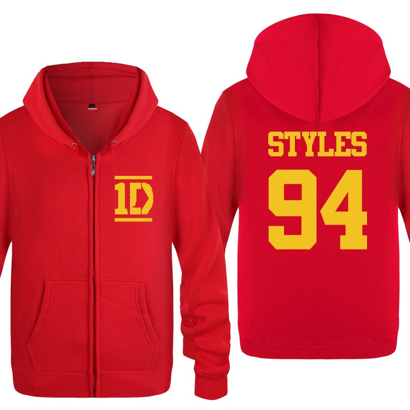 Mans One Direction Logo Music Band Long Sleeved Casual Hooded Style Sweater Hoodie Tops