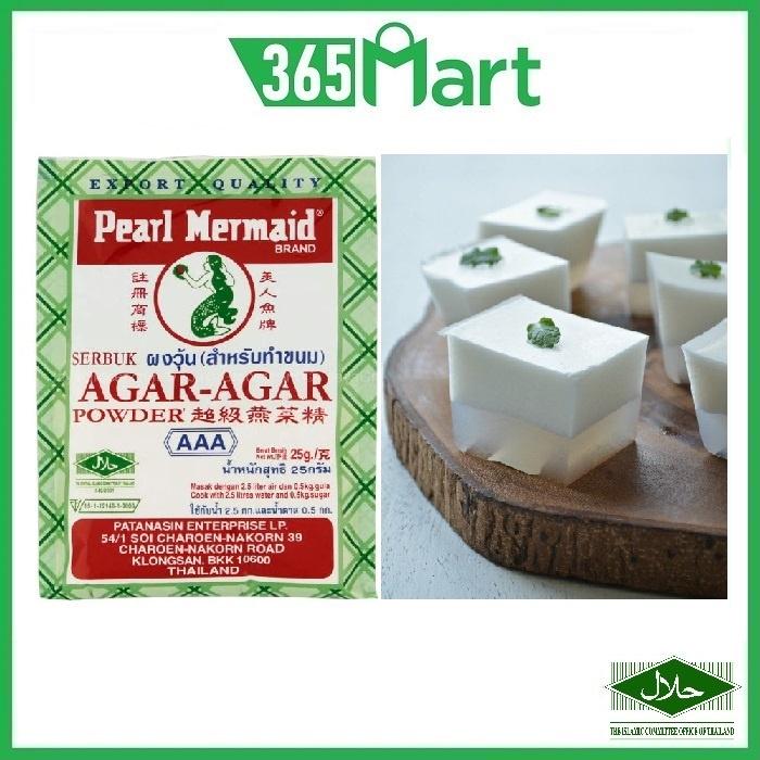 PEARL MERMAID Agar Agar Powder AAA Quality 25g HALAL Serbuk Agar Agar by 365mart 365 Mart