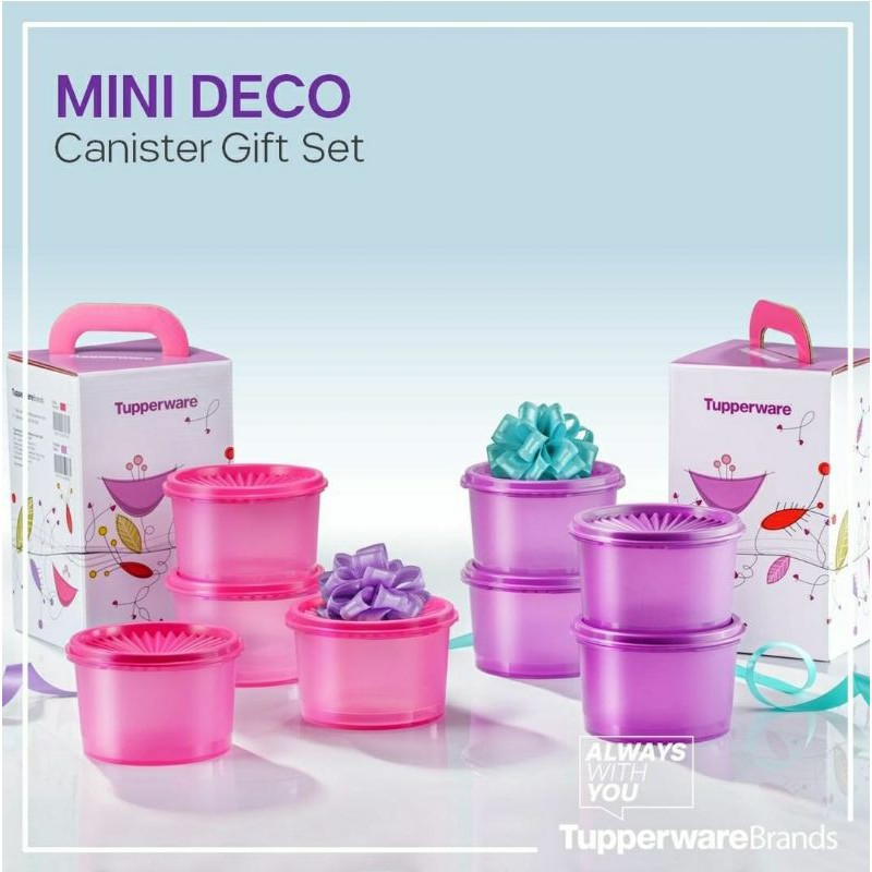 🔥HOT ITEMS🔥 Original Tupperware Mini Deco Canister Gift Set (600ml)  #readystock