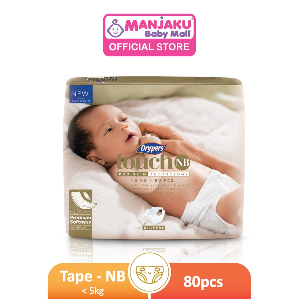 Drypers Touch Mega Pack - NB/S/M/L/XL/XXL