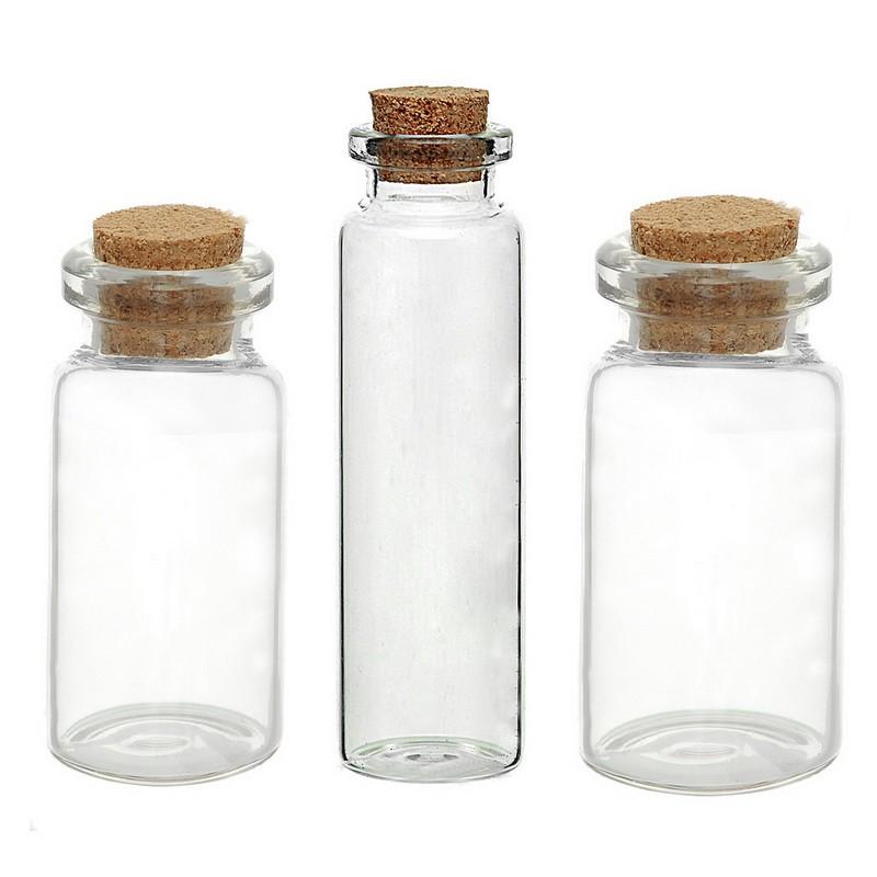 5pcs Set Transparent Glass Bottle Cork Wishing Drifting Bottles Small Empty Clear Glass Bottle Mini Storage Jar For Diy Craft Shopee Malaysia