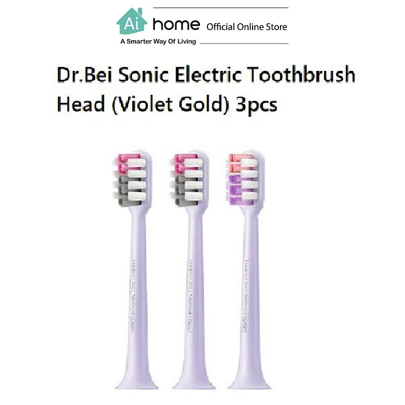 Dr.Bei Sonic Electric Toothbrush (Head) (Violet Gold) 3pcs [ Ai Home ]