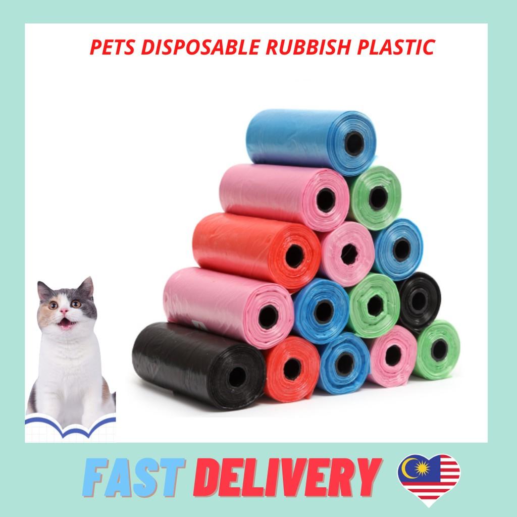 1 ROLLS Poop Disposable Diaper Dispenser Plastic Bag Pet Garbage Rubbish Bag