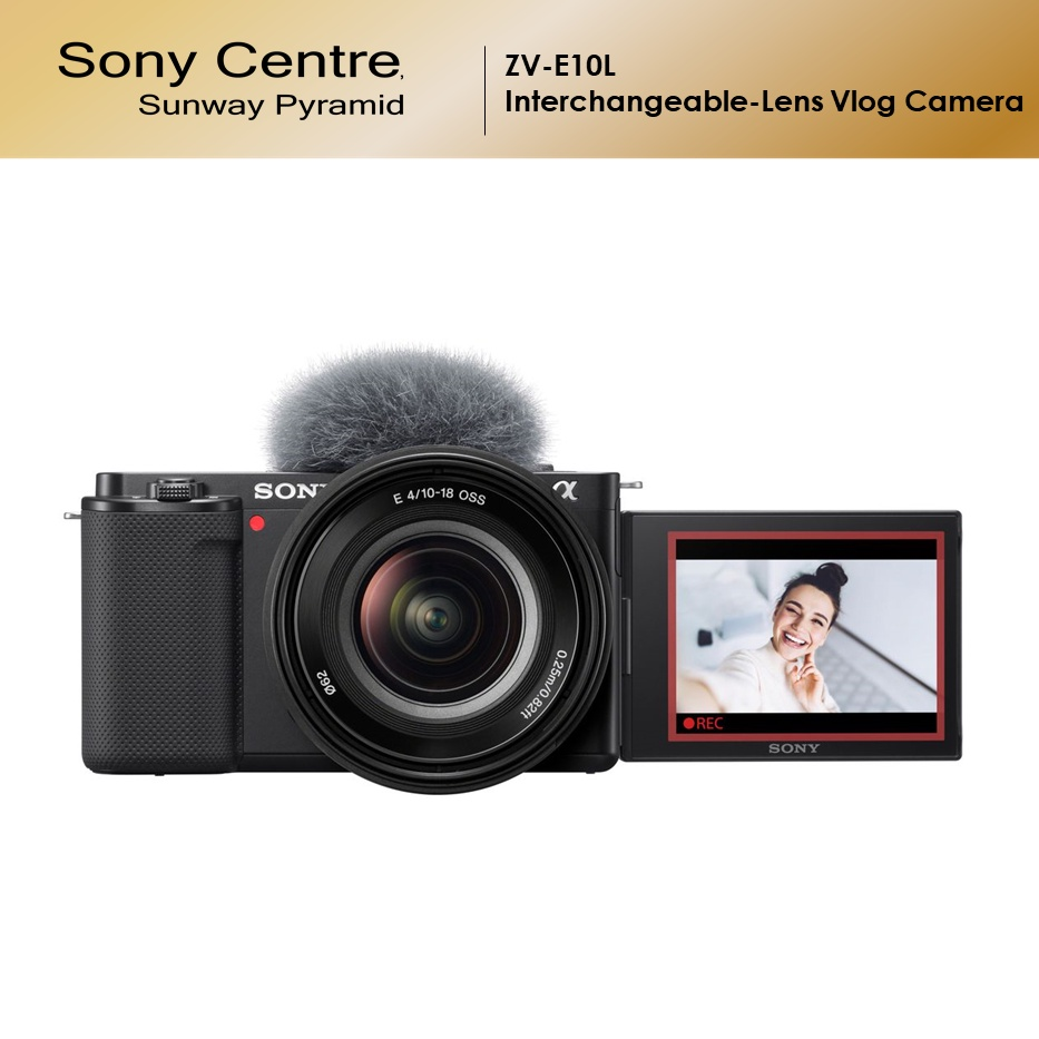 [PRE-ORDER] SONY ZV-E10L Interchangeable-lens Vlog Camera with 16-50mm Power Zoom Lens