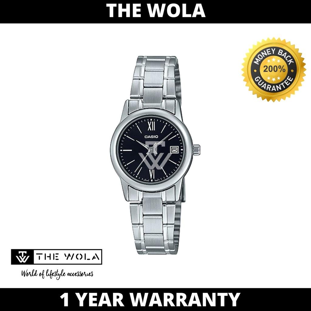 Casio Women's Analog LTP-V002D-1B3 Silver Stainless Steel Watch