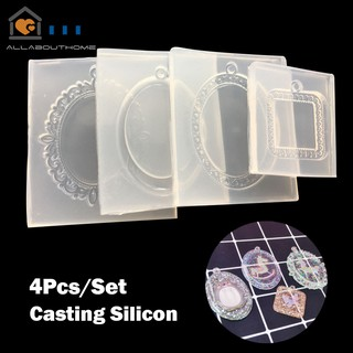 4Pcs/Set Casting Silicone Mould DIY Pendant Resin Mold Jewelry